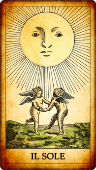 """Carta dei Tarocchi """"Il Sole"""""""