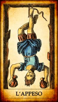 """Carta dei Tarocchi """"L'Appeso"""""""