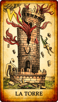 "Carta dei Tarocchi ""La Torre"""