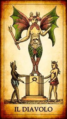 """Carta dei Tarocchi """"Il Diavolo"""""""