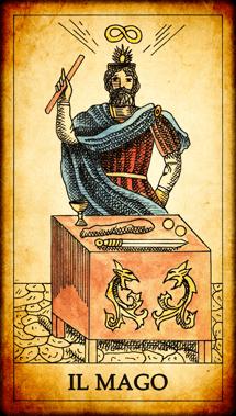 """Carta dei Tarocchi """"Il Mago"""""""
