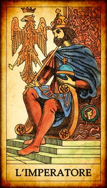 """Carta dei Tarocchi """"L'Imperatore"""""""