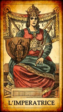 """Carta dei Tarocchi """"L'Imperatrice"""""""