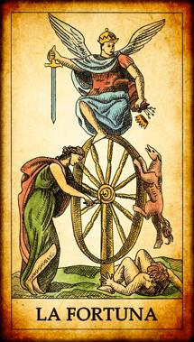 """Carta dei Tarocchi """"La Fortuna"""""""