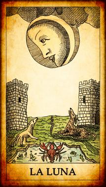 "Carta dei Tarocchi ""La Luna"""