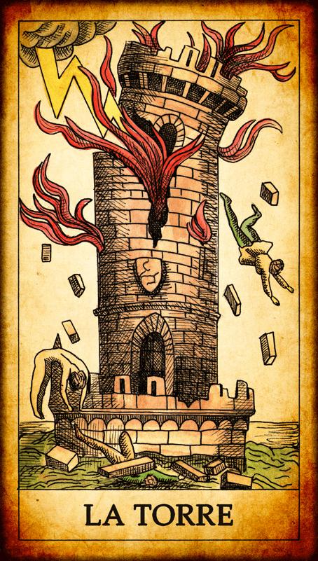 Risultati immagini per tarocchi la torre
