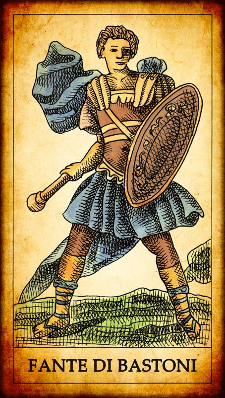 6 Fiori Tarocchi Gabriella.Carte Di Bastoni Dei Tarocchi