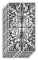Retro delle Carte dei Tarocchi