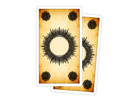 Retro delle Carte dei Tarocchi dei Giochi di Corte