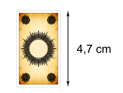 Tarocchi dei Giochi di Corte - Retro delle Carte Versione Mini